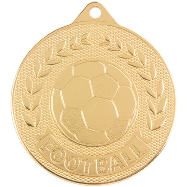 "Gold Discovery Football Medal 50mm (2"")"