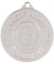"""Silver Discovery Football Medal 50mm (2"""")"""