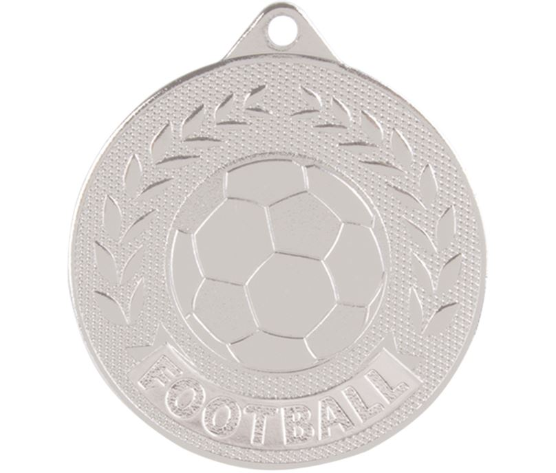 "Silver Discovery Football Medal 50mm (2"")"