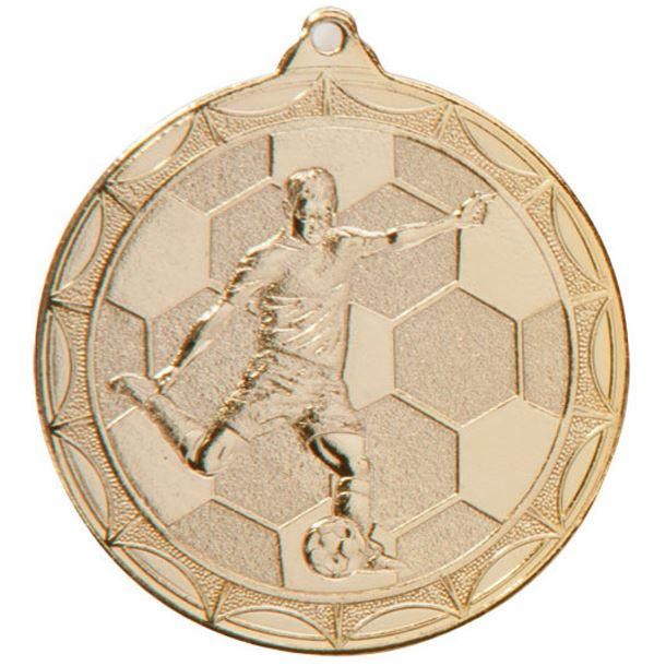 """Impulse Football Medal Gold 50mm (2"""")"""