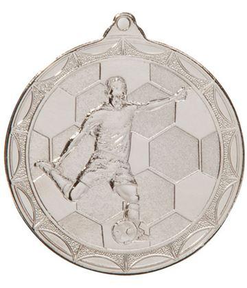 """Impulse Football Medal Silver 50mm (2"""")"""