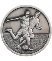 "Football Player Presentation Medal Antique Silver 70mm (2.75"")"