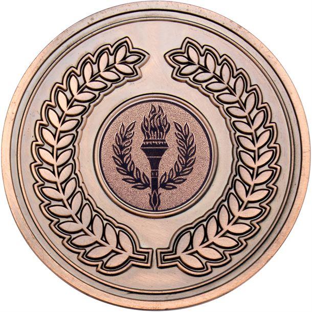 "Laurel Wreath Presentation Medal Antique Bronze 70mm (2.75"")"
