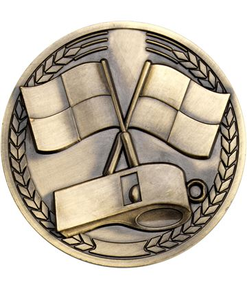 "Sport Referee Presentation Medallion Medal 70mm (2.75"")"