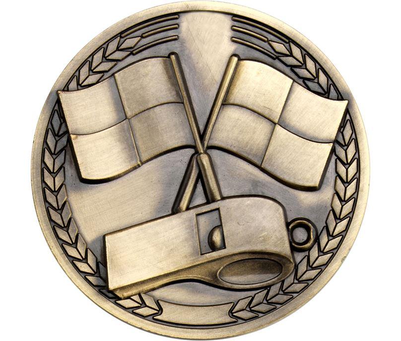 """Sport Referee Presentation Medallion Medal 70mm (2.75"""")"""