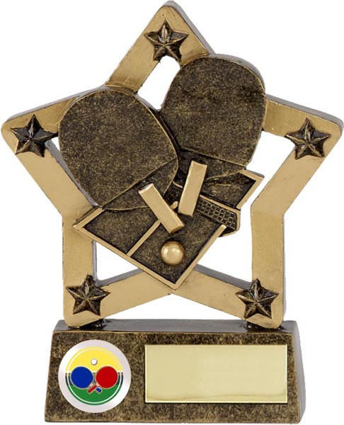 "Table Tennis Star Trophy 12.5cm (5"")"
