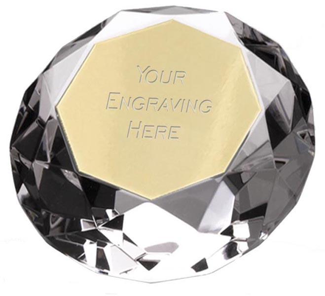 "Clarity Diamond Paperweight Award 5.5cm (2.25"")"