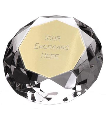 "Clarity Diamond Paperweight Award 5.5cm (2.25"")"