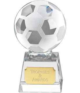 "Football mounted on Glass Award 12cm (4.75"")"