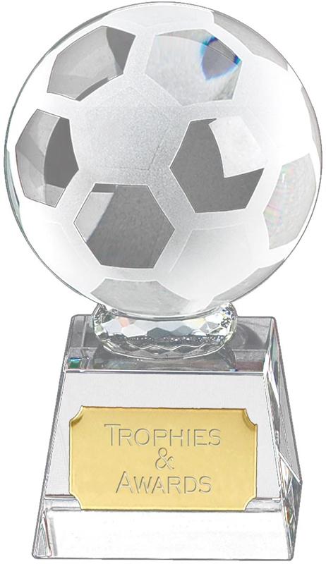 "Football mounted on Glass Award 12cm (4.75"")"