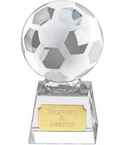 "Football mounted on Glass Award 17cm (6.75"")"