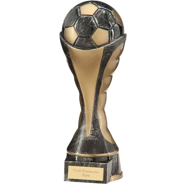 "Havoc Football Heavyweight Trophy Antique Silver & Gold 22cm (8.75"")"