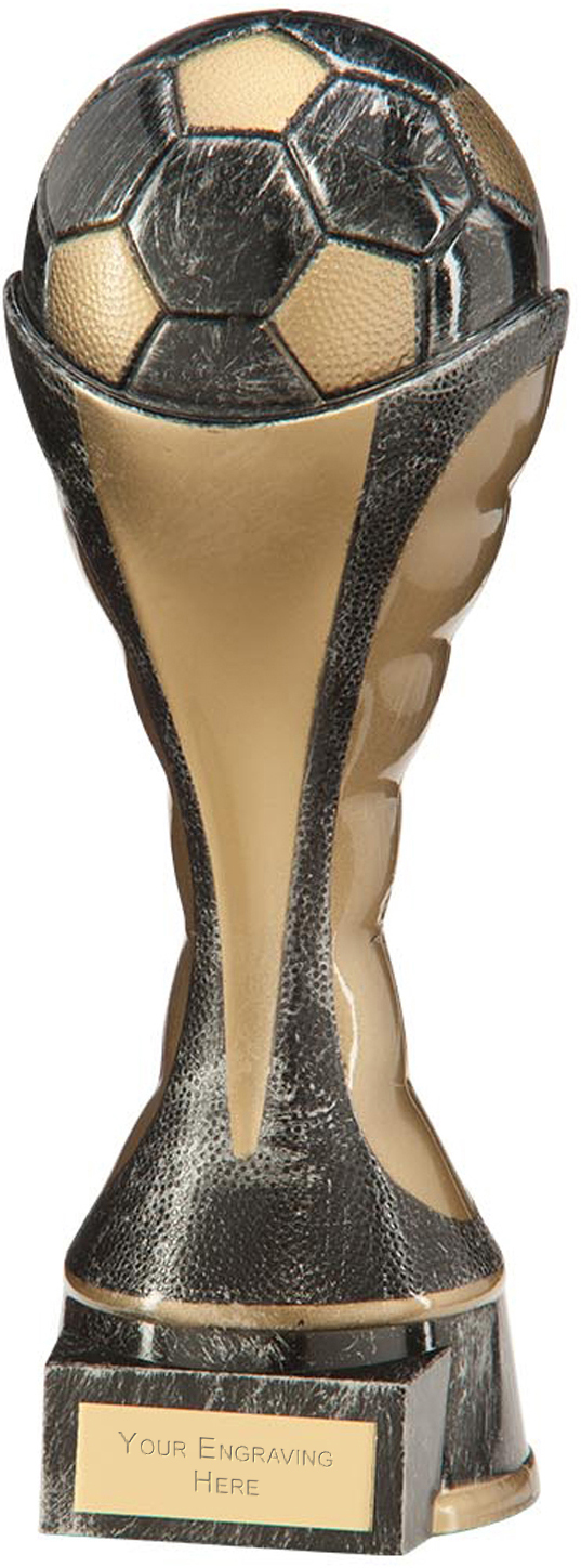 "Havoc Football Heavyweight Trophy Antique Silver & Gold 26cm (10.25"")"