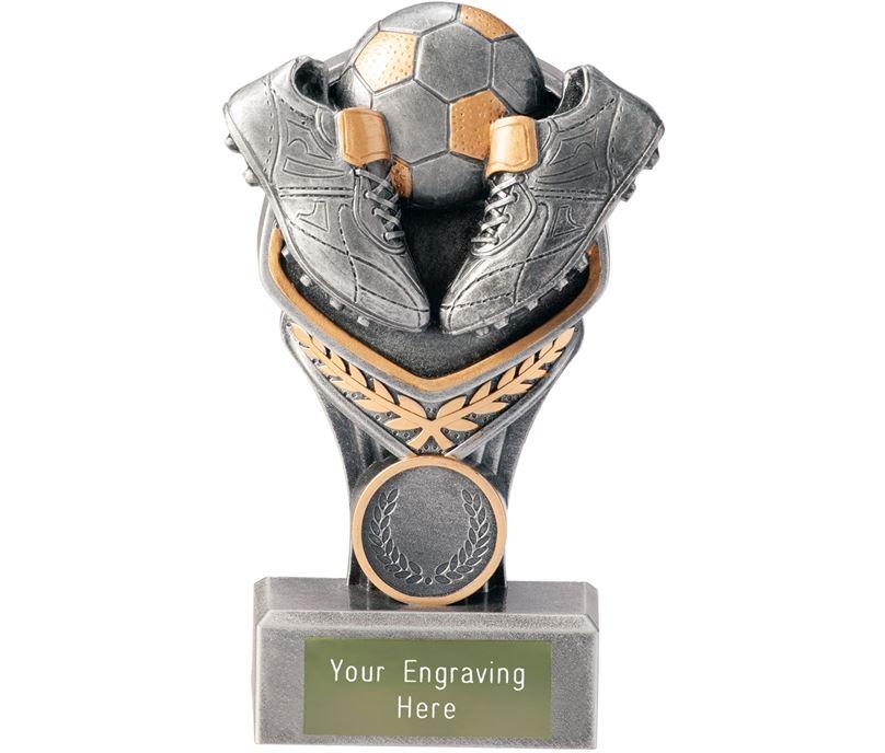 "Football Boot & Ball Falcon Trophy 15cm (6"")"