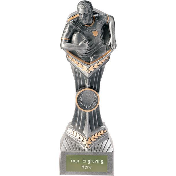 "Rugby Falcon Trophy 22cm (8.75"")"