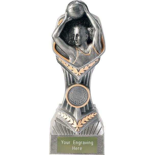 "Netball Player Falcon Trophy 19cm (7.5"")"