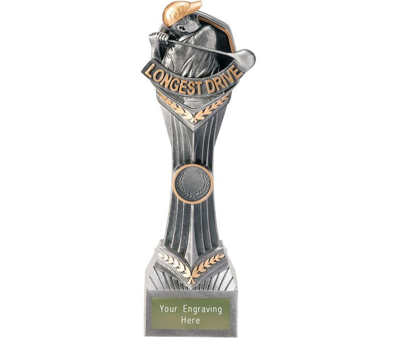 """Golf Longest Drive Falcon Trophy 24cm (9.5"""")"""