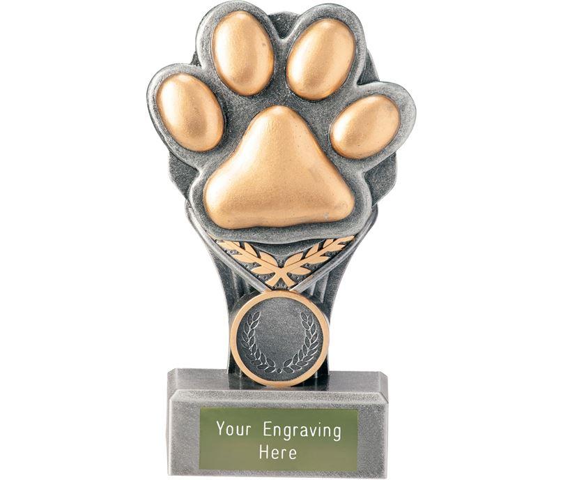 """Dog Paw Falcon Trophy 15cm (6"""")"""