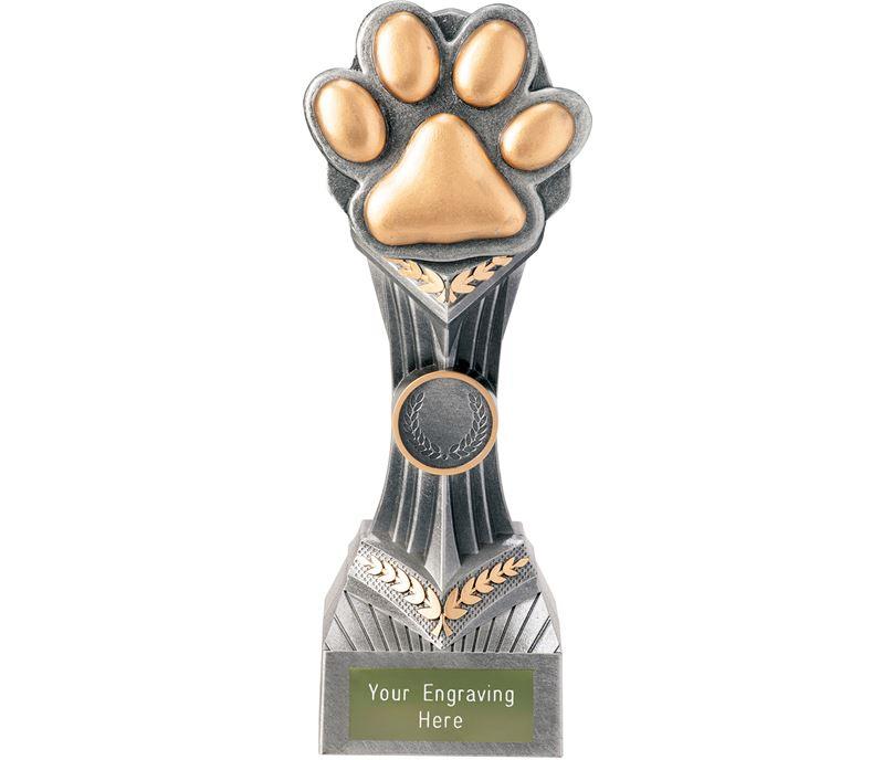 """Dog Paw Falcon Trophy 22cm (8.75"""")"""
