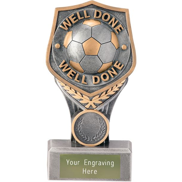 """Football Well Done Falcon Trophy 15cm (6"""")"""