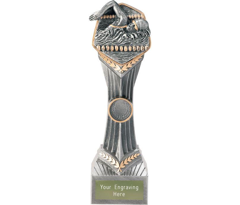 "Swimming Female Falcon Trophy 24cm (9.5"")"