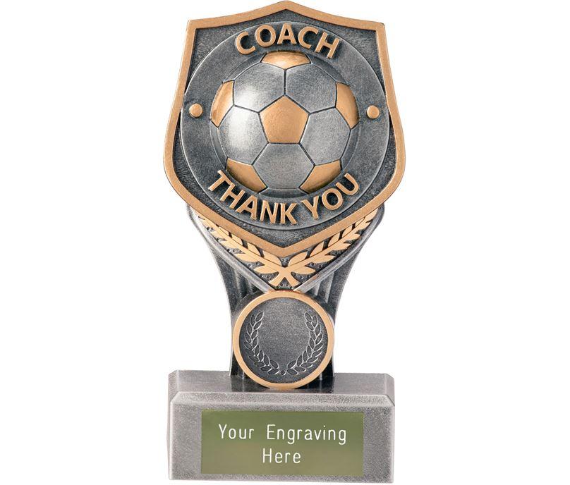 """Football Coach - Thank You Falcon Trophy 15cm (6"""")"""