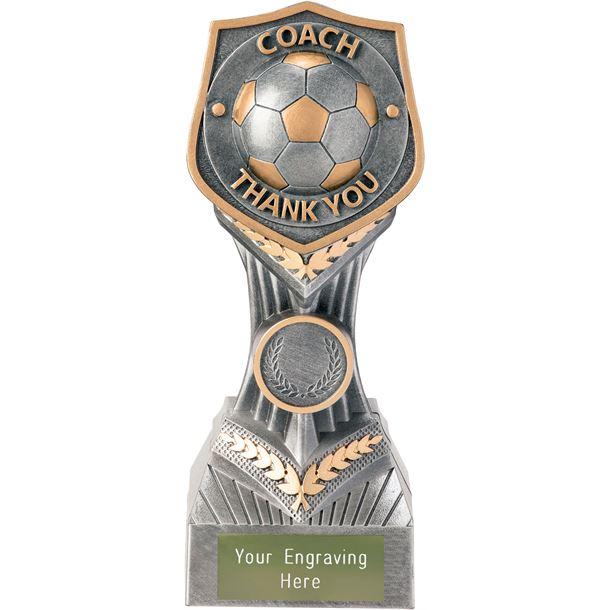 """Football Coach - Thank You Falcon Trophy 19cm (7.5"""")"""