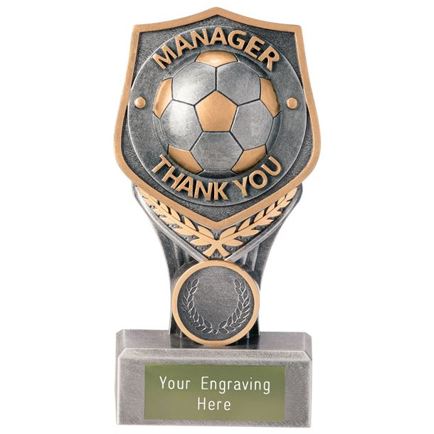 """Football Manager Thank You Falcon Trophy 15cm (6"""")"""