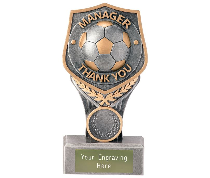 "Football Manager Thank You Falcon Trophy 15cm (6"")"