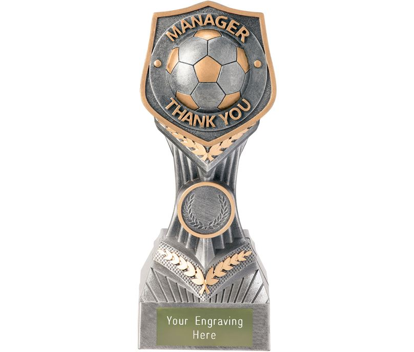 "Football Manager Thank You Falcon Trophy 19cm (7.5"")"