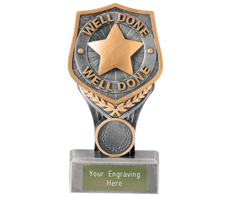 "Achievement Well Done Falcon Trophy 15cm (6"")"