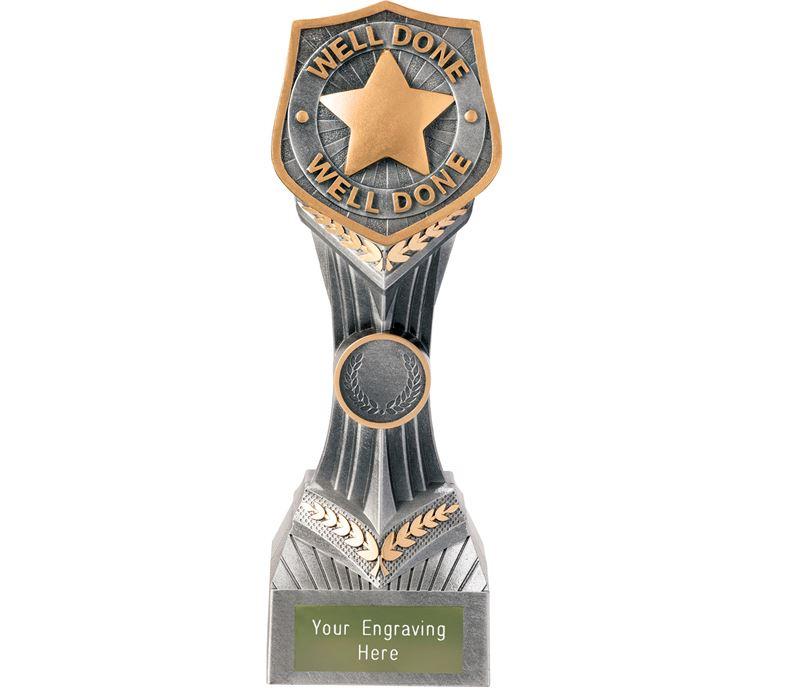 "Achievement Well Done Falcon Trophy 22cm (8.75"")"