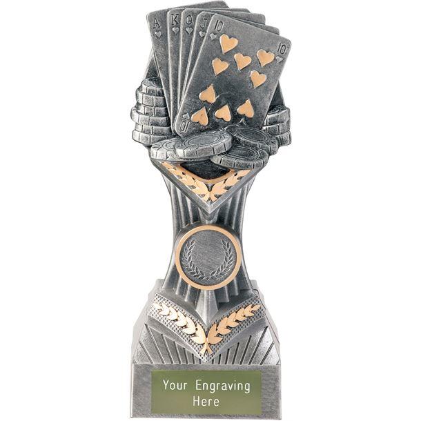 "Poker Cards Falcon Trophy 19cm (7.5"")"
