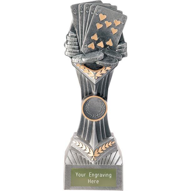 "Poker Cards Falcon Trophy 22cm (8.75"")"