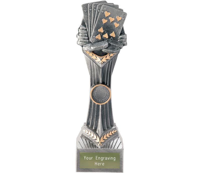 "Poker Cards Falcon Trophy 24cm (9.5"")"