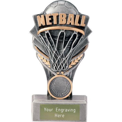 "Netball Falcon Trophy 15cm (6"")"