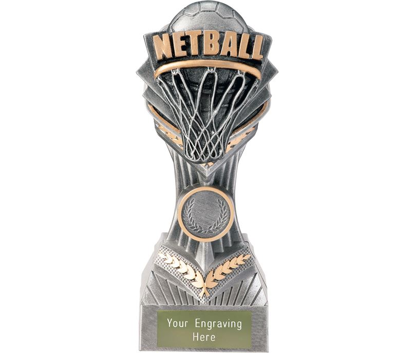 "Netball Falcon Trophy 19cm (7.5"")"