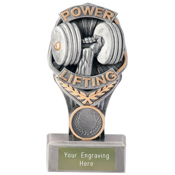 "Power Lifting Falcon Trophy 15cm (6"")"