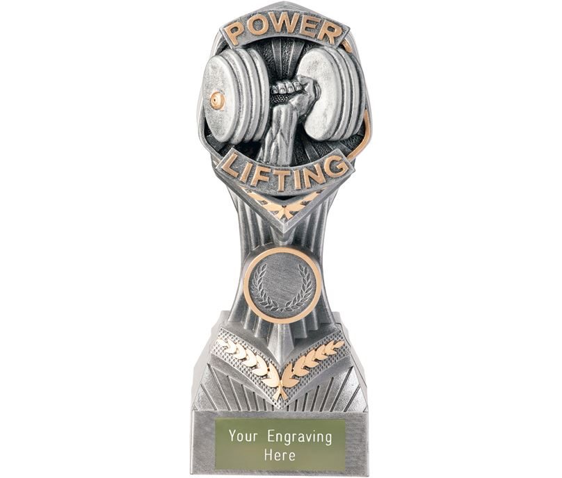 "Power Lifting Falcon Trophy 19cm (7.5"")"