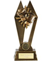 "Boxing Peak Trophy Antique Gold 17.5cm (7"")"