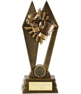 """Boxing Peak Trophy Antique Gold 20cm (8"""")"""