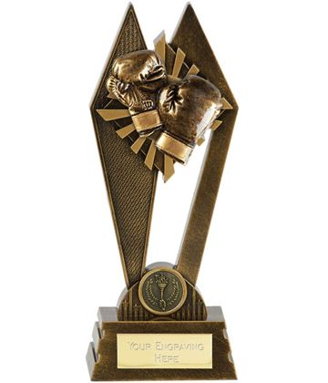 "Boxing Peak Trophy Antique Gold 20cm (8"")"