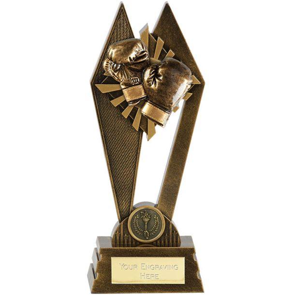 """Boxing Peak Trophy Antique Gold 22.5cm (8.75"""")"""