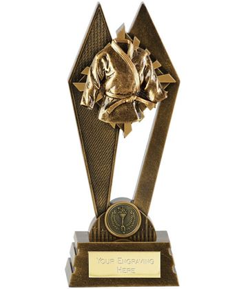 "Martial Arts Peak Trophy Antique Gold 17.5cm (7"")"