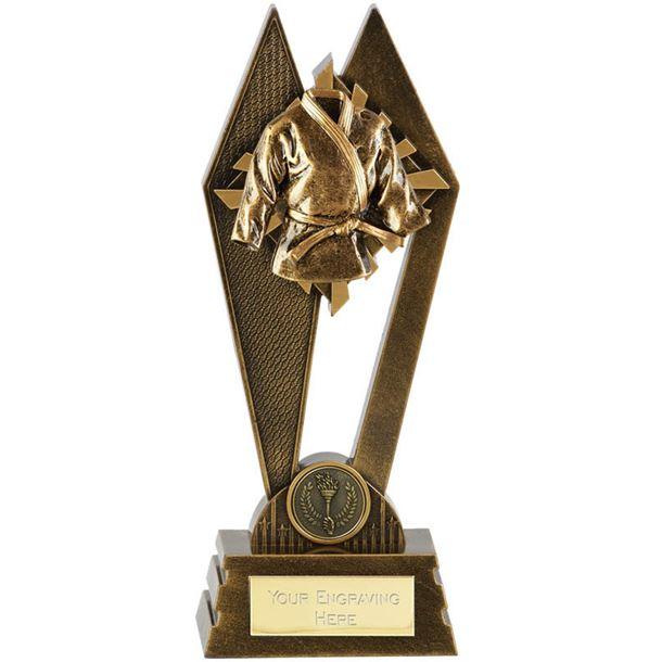 """Martial Arts Peak Trophy Antique Gold 22.5cm (8.75"""")"""