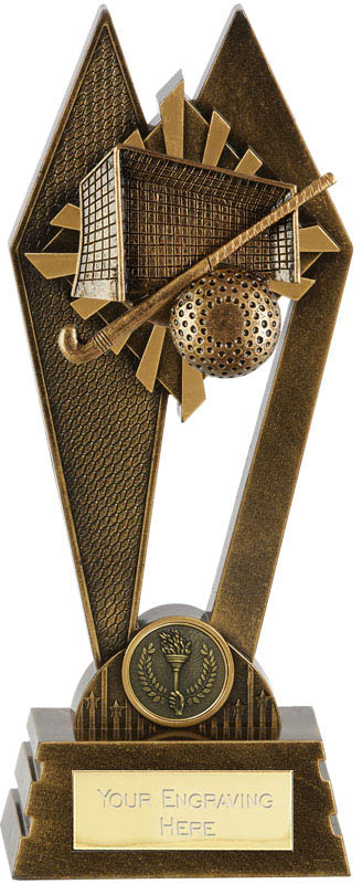 "Hockey Peak Trophy Antique Gold 20cm (8"")"