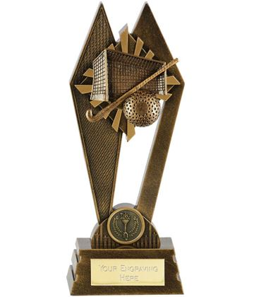 "Hockey Peak Trophy Antique Gold 22.5cm (8.75"")"