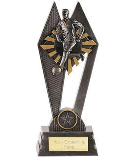 "Male Footballer Peak Trophy Antique Silver 22.5cm (8.75"")"