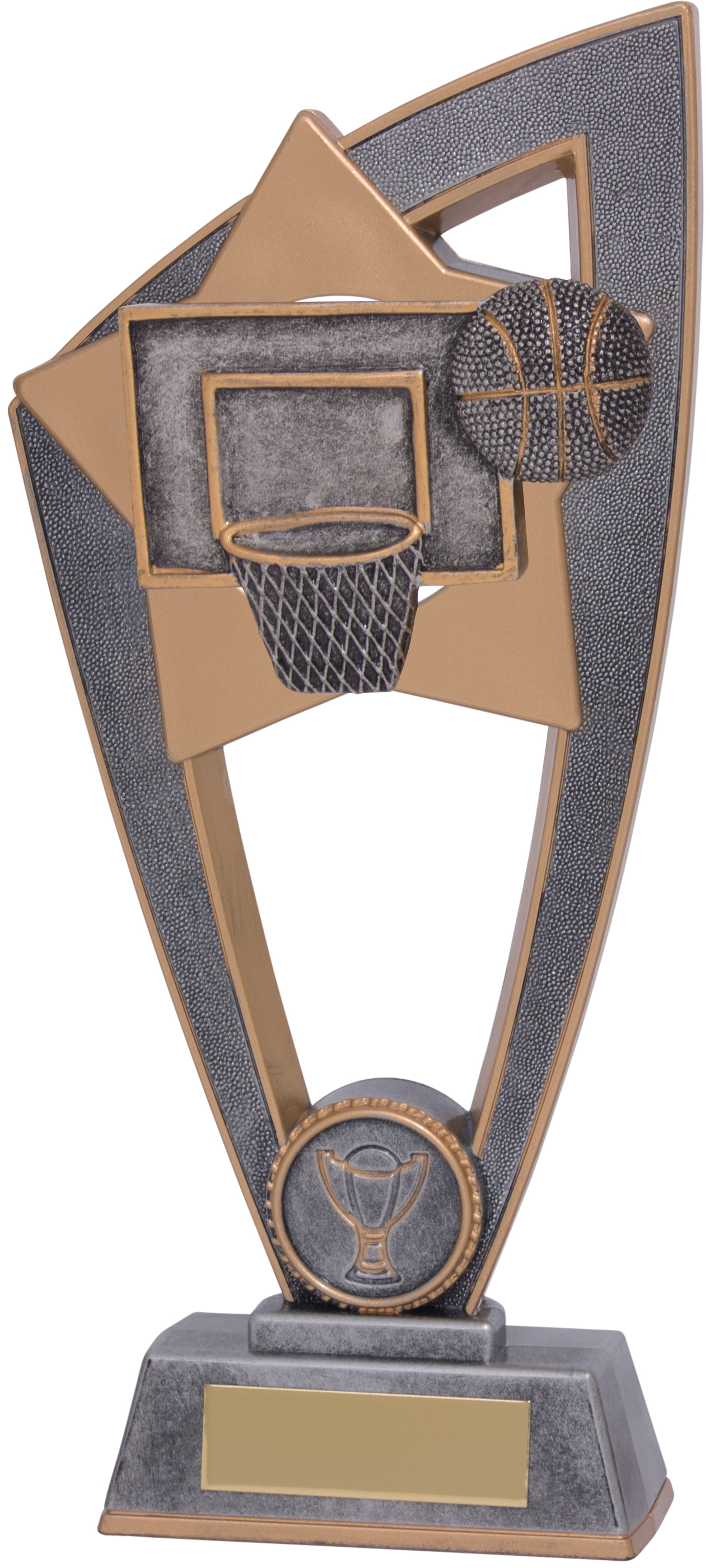 "Basketball Star Blast Trophy 23cm (9"")"