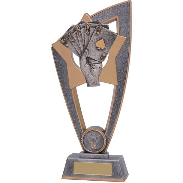 "Poker Star Blast Trophy 23cm (9"")"